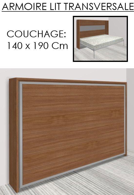 armoire lit escamotable athena noyer couchage 140 22. Black Bedroom Furniture Sets. Home Design Ideas