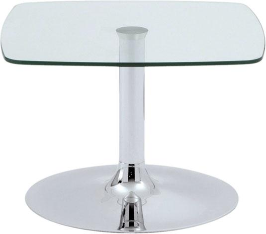 daphne table basse 60 x 60 cm verre transparent. Black Bedroom Furniture Sets. Home Design Ideas