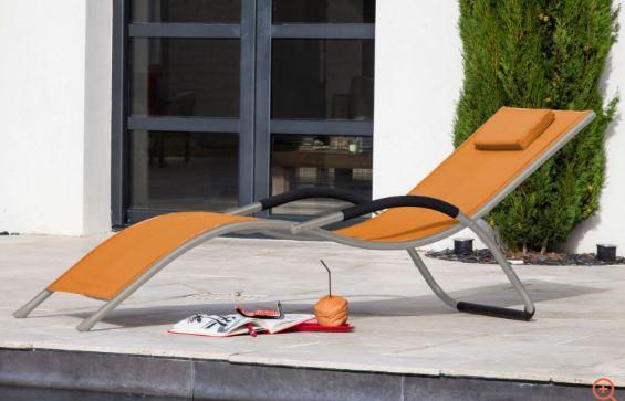 chaise longue de jardin lit de soleil riva. Black Bedroom Furniture Sets. Home Design Ideas