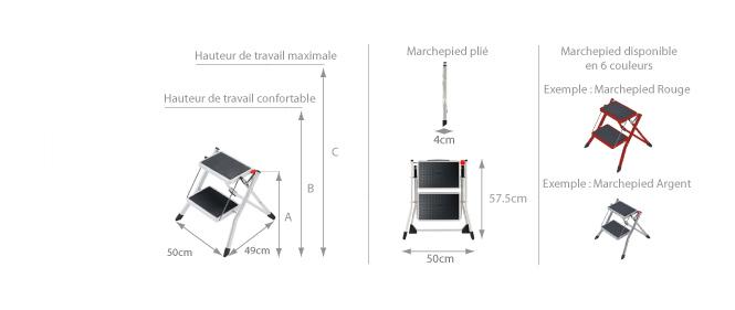 marchepied pliant 2 marches marchepied direct comparer les prix de marchepied pliant 2. Black Bedroom Furniture Sets. Home Design Ideas