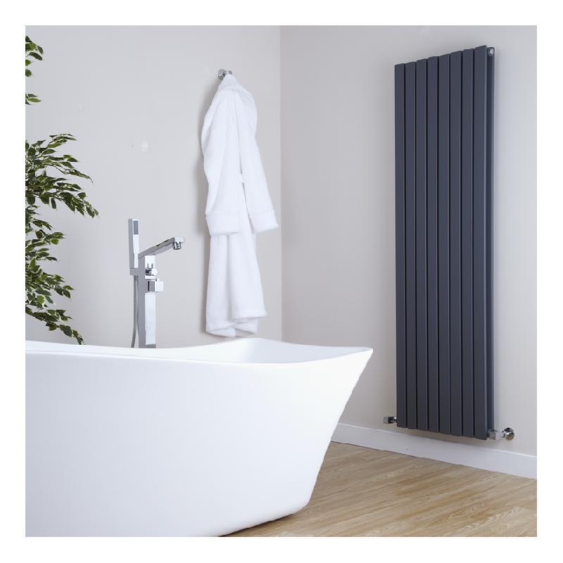 radiateur design vertical anthracite sloane 160cm x 47 2cm x 5 6cm 1591 watts hudson reed. Black Bedroom Furniture Sets. Home Design Ideas