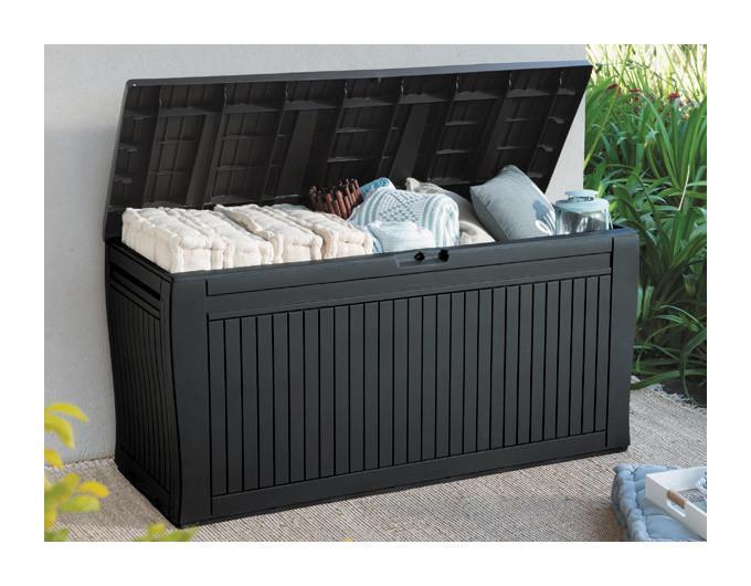 Malle de rangement en bois tous les fournisseurs de for Malle jardin gris 420l