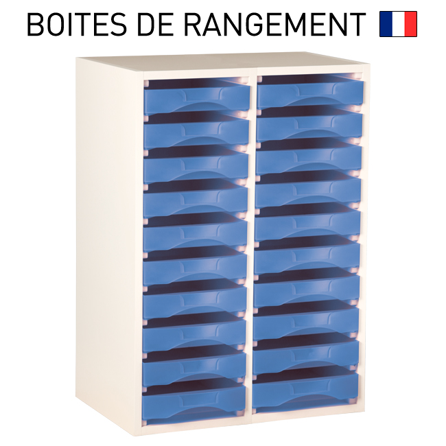 meuble bois blanc pour boites de rangement starbox plateau. Black Bedroom Furniture Sets. Home Design Ideas