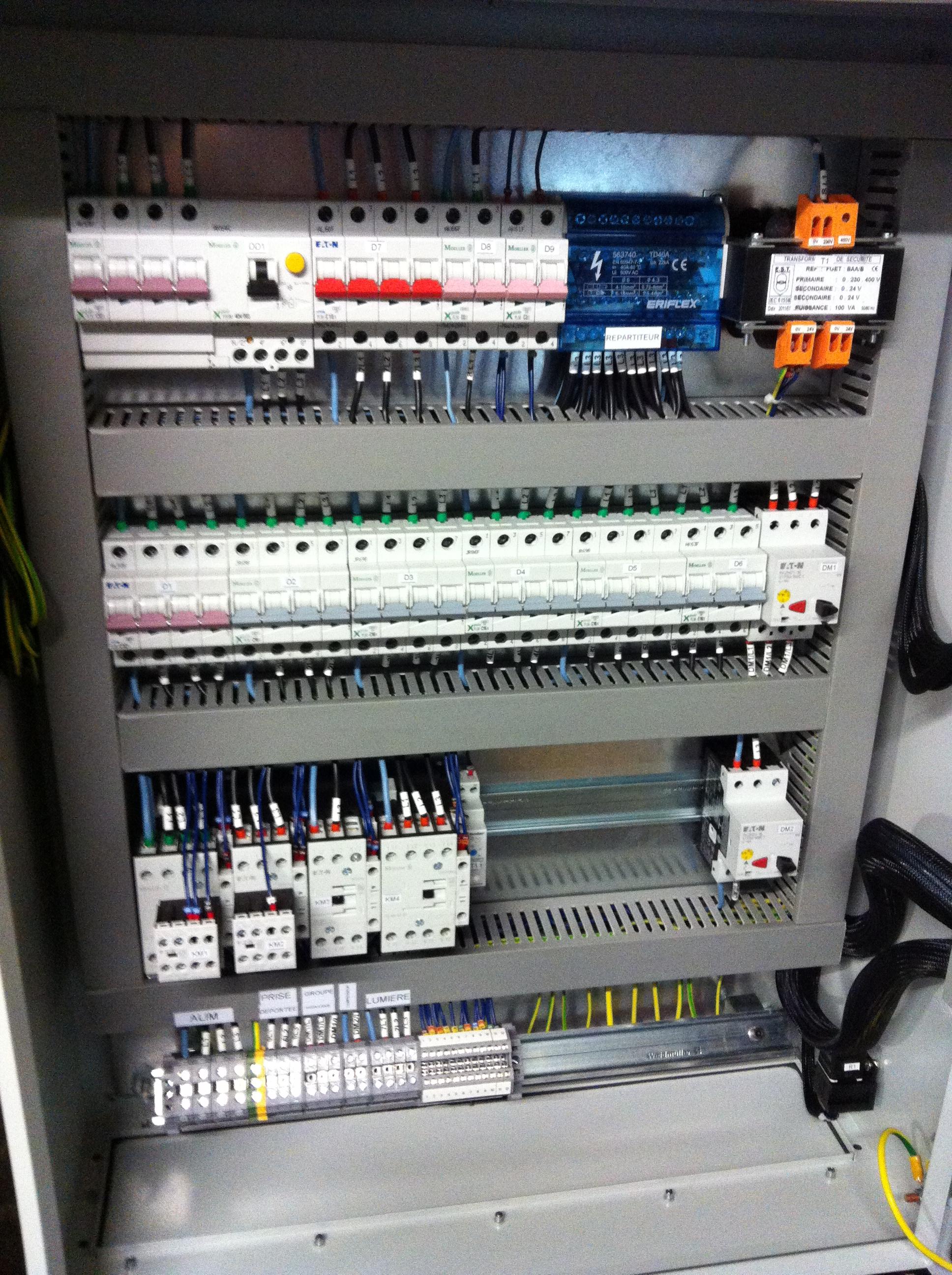 Armoire électrique industrielle