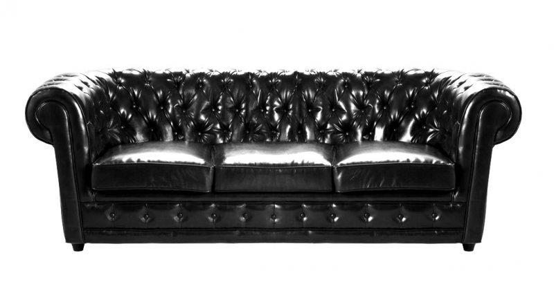 canape chesterfield deluxe bycast noir. Black Bedroom Furniture Sets. Home Design Ideas