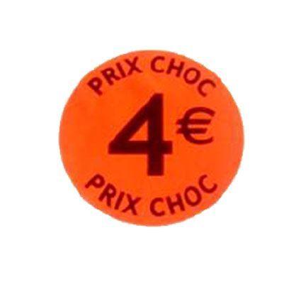 étiquette adhésive  4eur prix choc
