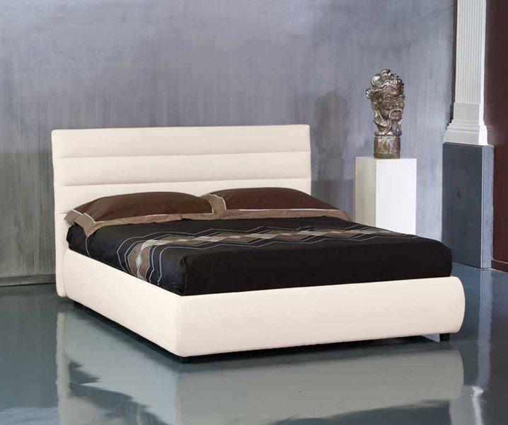 Lit coffre design elisabetha beige couchage 2 personnes - Lit personnes design ...