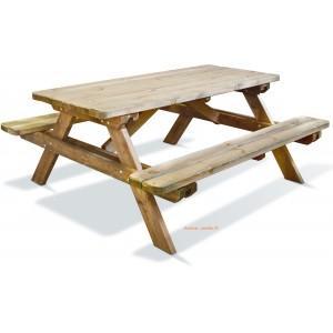 Table pique nique en bois traité autoclave - 0100492