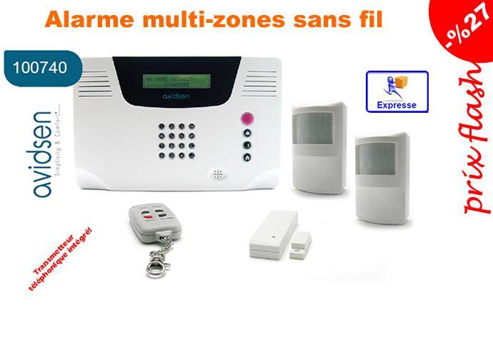 alarme maison sans fil multizones avidsen 100740 comparer les prix de alarme maison sans fil. Black Bedroom Furniture Sets. Home Design Ideas