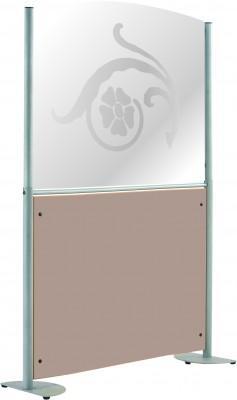 CLAUSTRA ZEN - 82 X 158 CM - PANNEAU VERRE SÉCURIT/MÉLAMINÉ STRUCTURE ÉPOXY