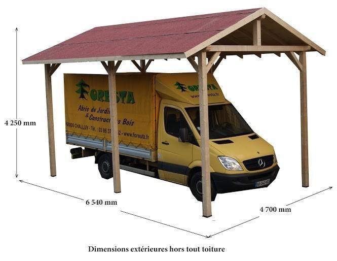 Auvent carport charpent camping car avec montage - Montage d un carport ...