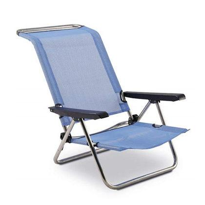Chaise de plage lit 5 positions for Chaise longue pliante decathlon
