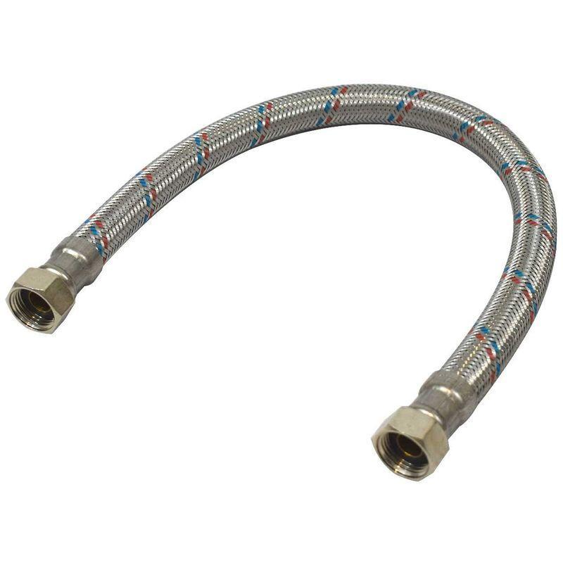 """Lg 100cm Flexible inox Ø13 int F//F 1//2/"""" 15//21"""