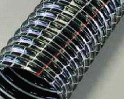 Gaine flexible et legere en pvc spirale pvc noyee dans la paroi