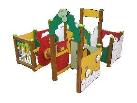 Jeu d 39 ext rieur la prairie 9 modules pour sol meuble for Zumba exterieur laprairie