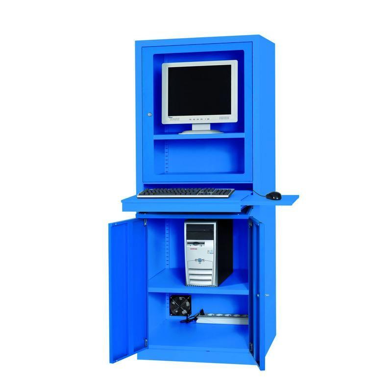 ARMOIRE INFORMATIQUE AIC500 L650 P550 H1750 GRIS-GRIS
