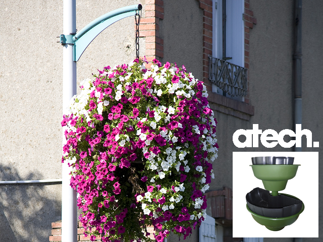 Atech produits balconnieres et suspensions for Suspension plante exterieur