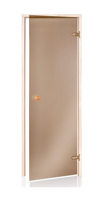 Desineo Porte de Sauna Bronze 60 x 190 en Verre tremp/é
