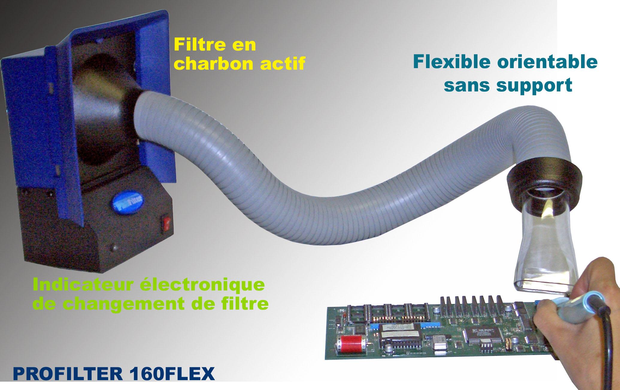 aspirateur de fumee profilter 160 flex. Black Bedroom Furniture Sets. Home Design Ideas