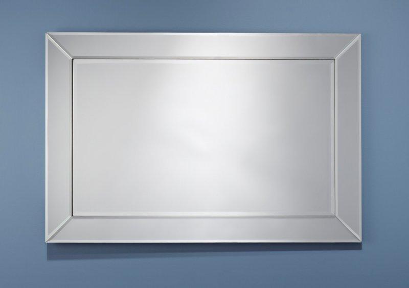 Avatar miroir mural rectangulaire en verre biseaut for Grand miroir 2 metres