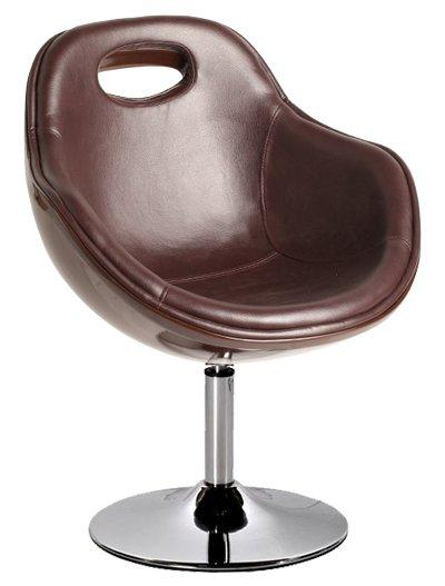 oxygen fauteuil simili cuir et fibre de verre marron design. Black Bedroom Furniture Sets. Home Design Ideas