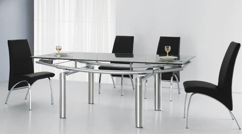 TABLE EN VERRE A RALLONGE EXTENSIBLE PEARL