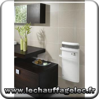 Radiateur s che serviettes avec soufflerie int gr e noirot cc bain 1400w acie - Seche serviette mixte avec soufflerie ...