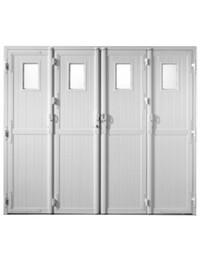 portes de garage battantes pvc blanc