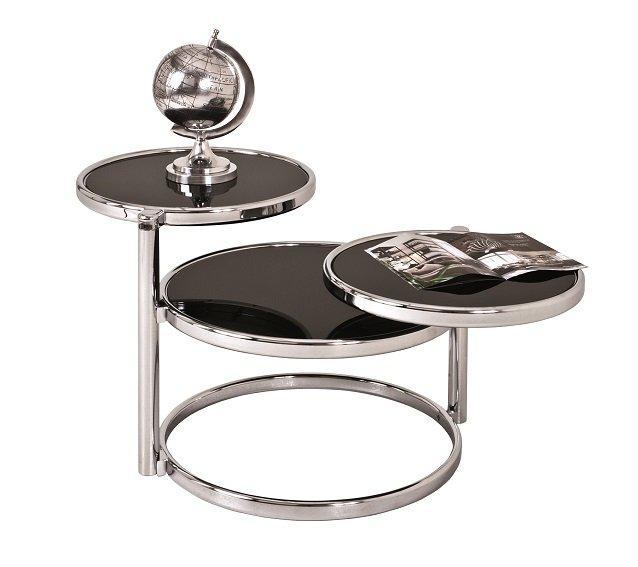 Table Basse Venda En Verre Teinté Noir