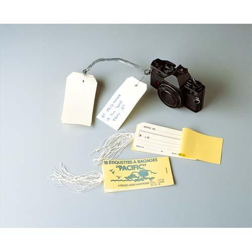 Avery carnet 10 étiq bagage 12x6,6 cm.Œillet renforcé+attache ficelle.pré-imprimé envoi de/destinataire