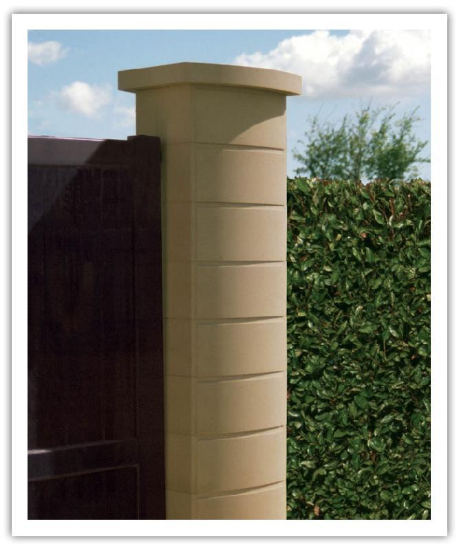 pilier ovalis. Black Bedroom Furniture Sets. Home Design Ideas