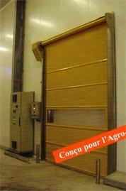 Porte rapide ERI / souple / à enroulement / en plastique / utilisation intérieure