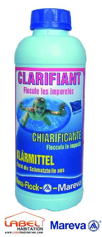 Traitement piscine clarifiant liquide reva flock 1l mareva for Clarifiant piscine