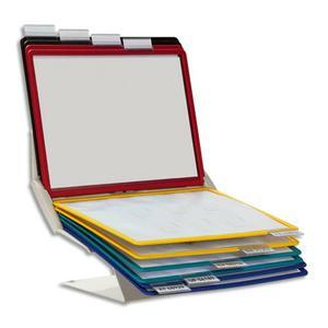 Durable support de plaque-pochettes rotatif pour document a4 vario pro10 557900