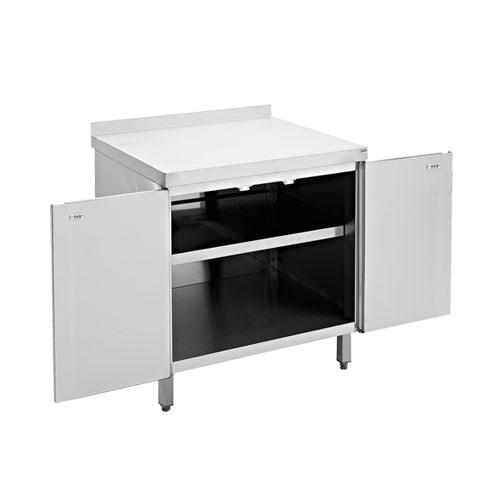 Porte battante cuisine 2 meubles bas en inox cuisine scolaire