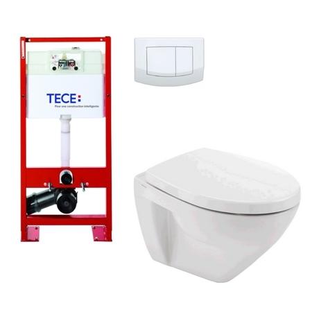 Destockage pack wc suspendu compact b ti support tece - Wc suspendu compact ...