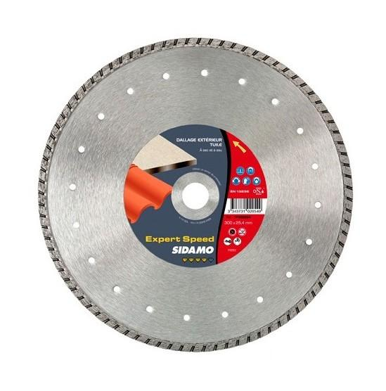 DISQUE DIAMANTS BÉTON , TUILE , DALLAGE Ø 300 X 25.4 MM - SIDAMO PRO TURBO