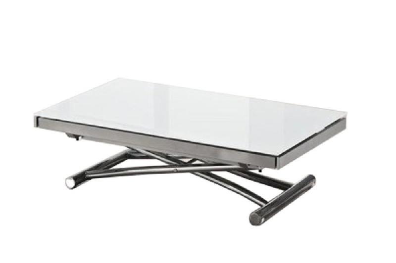 table basse jump extensible relevable en verre comparer les prix de table basse jump extensible. Black Bedroom Furniture Sets. Home Design Ideas