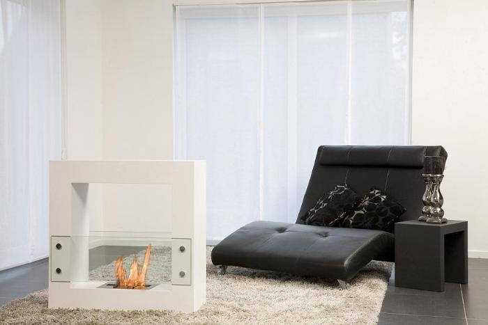 cheminee bio ethanol tiny cube blanche. Black Bedroom Furniture Sets. Home Design Ideas
