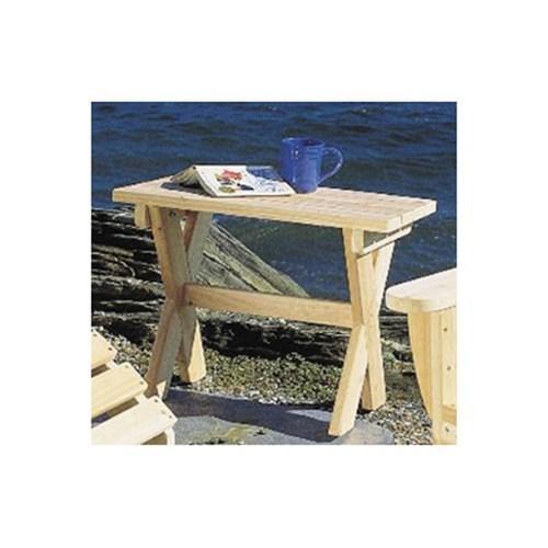 TABLE BASSE DE JARDIN EN CÈDRE BLANC ADIRONDACK