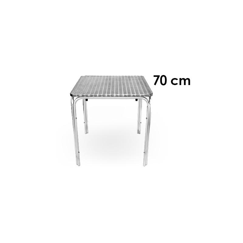 table de bistro 70 x 70 cm acier inox en soldes professionnel. Black Bedroom Furniture Sets. Home Design Ideas