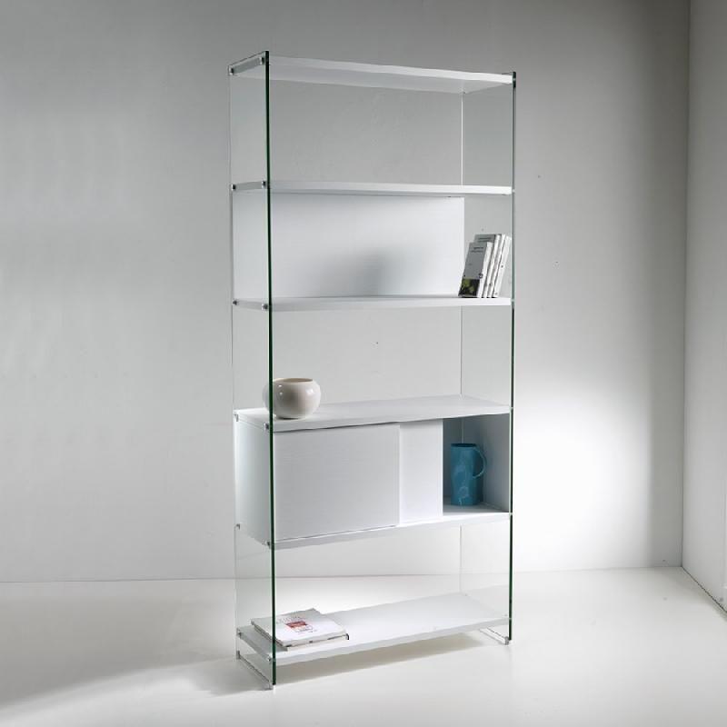 biblioth que murale babylone 90 cm blanc c ruse comparer les prix de biblioth que murale. Black Bedroom Furniture Sets. Home Design Ideas