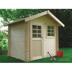Abri de jardin en bois 28mm, laval - s815-sans plancher