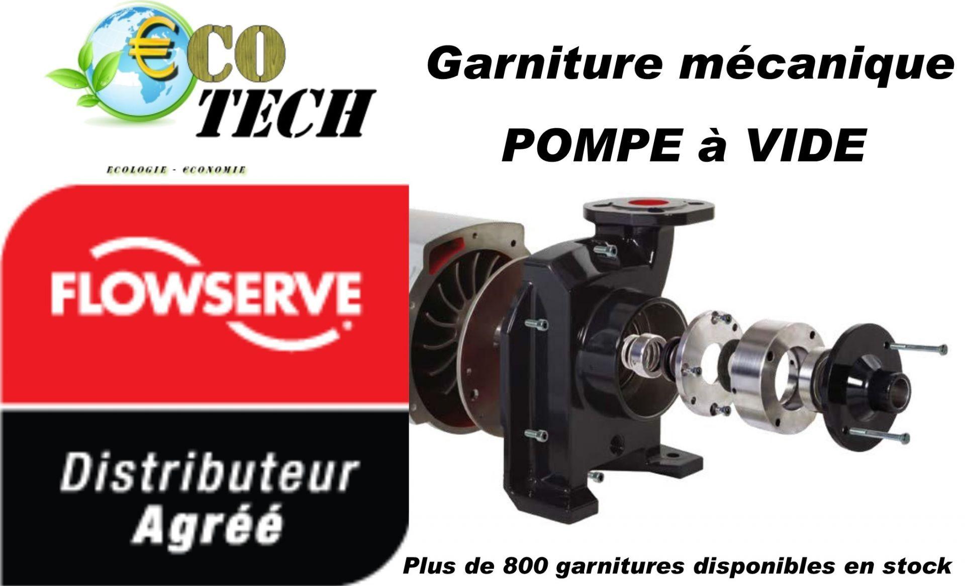 Garniture mécanique  et cartouche sihi - flowserve pour pompe a vide