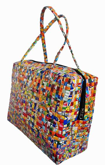 sac voyage recycle petit modele. Black Bedroom Furniture Sets. Home Design Ideas