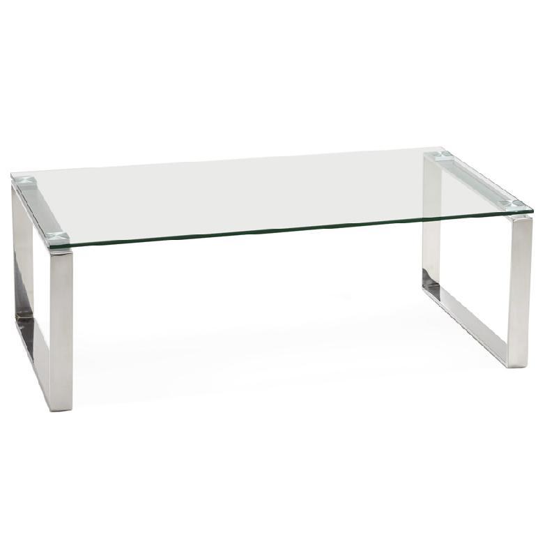 table basse design de salon 39 nebraska 39 en verre comparer les prix de table basse design de salon. Black Bedroom Furniture Sets. Home Design Ideas