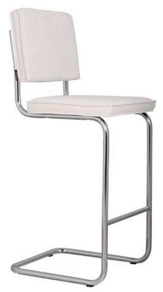 Chaise en coloris rib de bar velours blanc zuiver ridge 9EDWIYeH2