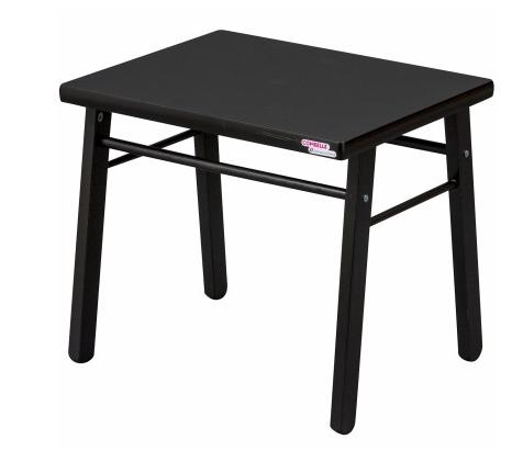 table d 39 enfant en bois massif laque noir. Black Bedroom Furniture Sets. Home Design Ideas
