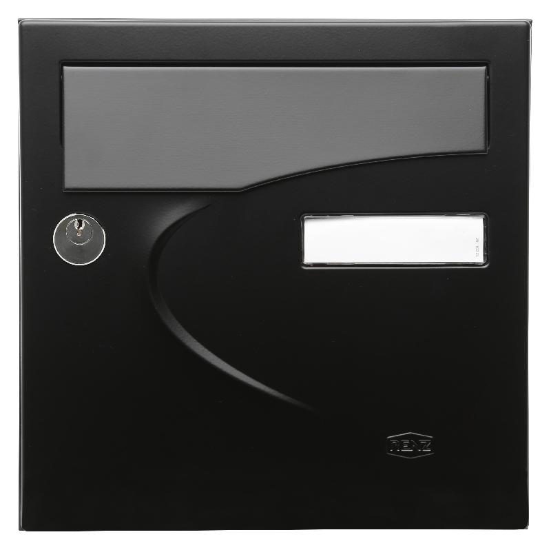 bo tes aux lettres compact preference noir mat renz. Black Bedroom Furniture Sets. Home Design Ideas