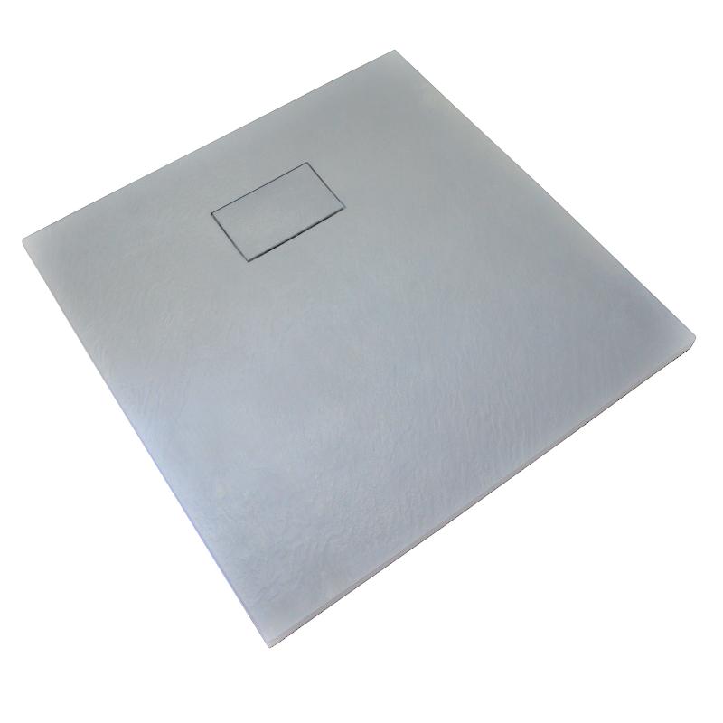 receveur de douche 90 x 90 cm extra plat piatto en solicast surface ardois e carr gris. Black Bedroom Furniture Sets. Home Design Ideas
